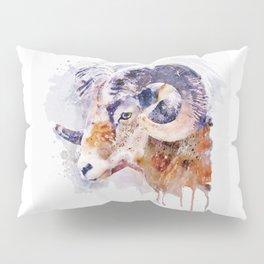 Bighorn Sheep watercolor portrait Pillow Sham