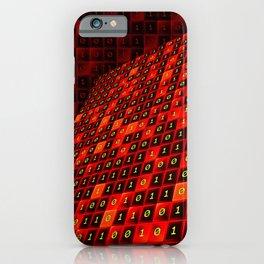 Bits pattern iPhone Case