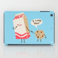 cookie iPad Cases featuring Cookie Loves Milk by Jessica Fink