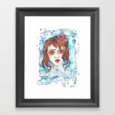 Miss Blue Framed Art Print