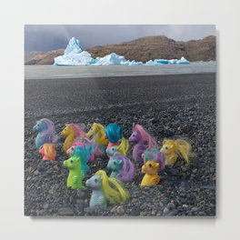 My Little Sea Ponies in Patagonia Metal Print