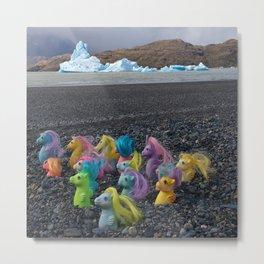 My Little Sea Ponies in Patagonia Metal Print