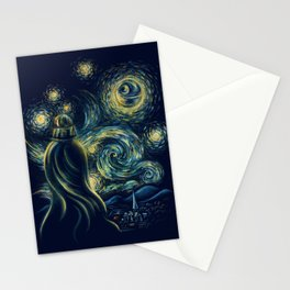 Death Starry Night Stationery Cards