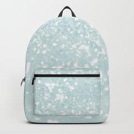 Elegant blush mint green white glam abstract glitter Backpack