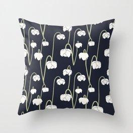 pitcher plant flower Throw Pillow