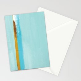 Teal Dream Abstract Stationery Cards