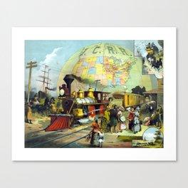 Transcontinental Railroad Canvas Print