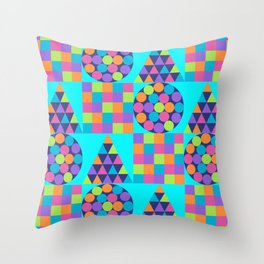 Circle Square Triangle Throw Pillow