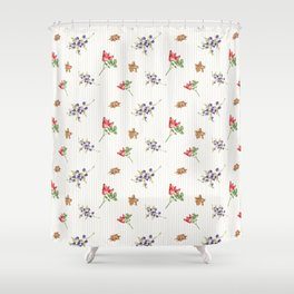 Elegant Christmas - floral spice Shower Curtain