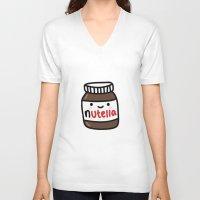nutella V-neck T-shirts featuring Nutella by Iotara