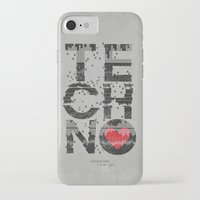 paramore iPhone & iPod Cases featuring I love Techno by Sitchko Igor
