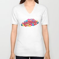 bazinga V-neck T-shirts featuring Bazinga! - Ball Pit by MaNia Creations