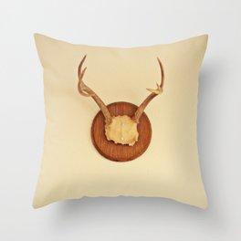 Warm Antler Throw Pillow