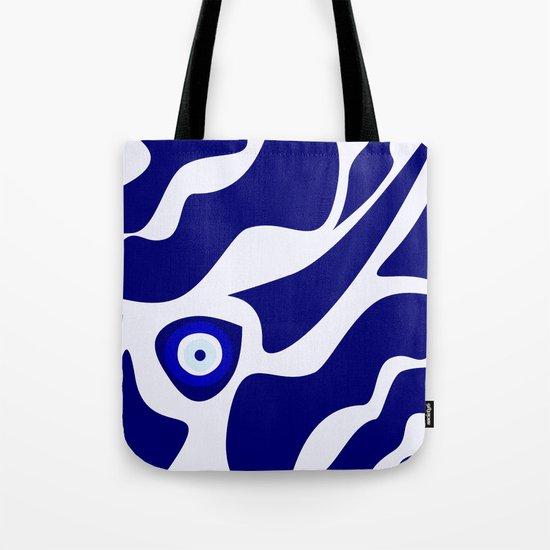 Evil Eye Lava Pattern Tote Bag