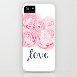 Shabby Chic Rose Bouqet iPhone Case