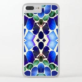 Paua Aqua Forest Clear iPhone Case