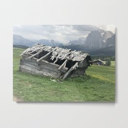 shack in the Austrian mountains Metal Print