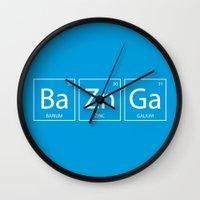 bazinga Wall Clocks featuring Bazinga by Nicolasfl