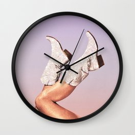 These Boots - Glitter Miami Vibes Wall Clock