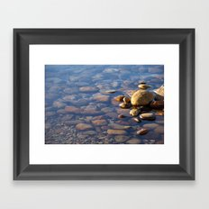 Pebble Stones by the Sea 7738 Framed Art Print