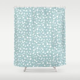 tiny mountains Shower Curtain