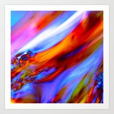 Fluid movement Art Print