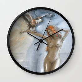 Goddess of Nature Wall Clock