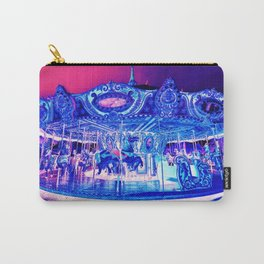 Carousel Merry-Go-Round Pink Purple Carry-All Pouch