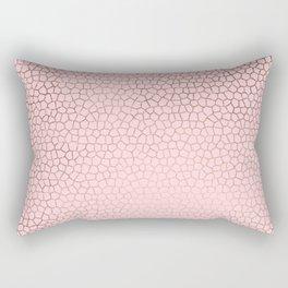 modern rose gold mozaic blush pink pattern Rectangular Pillow