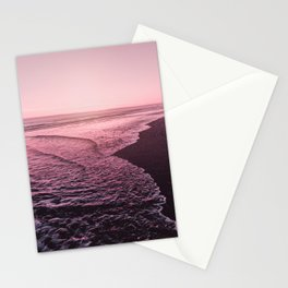 Rose Gold Beach Sunset Stationery Cards