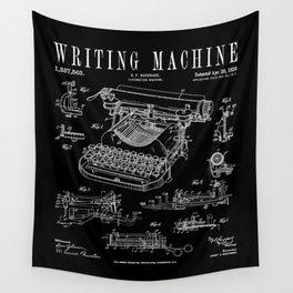 Typewriter Writing Machine Vintage Writer Patent Wall Tapestry