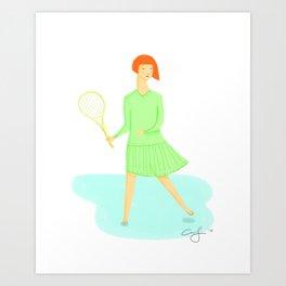 Sporty Lady #1 Art Print