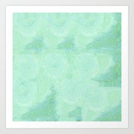 Blue Gray Cotton Fluff Art Print