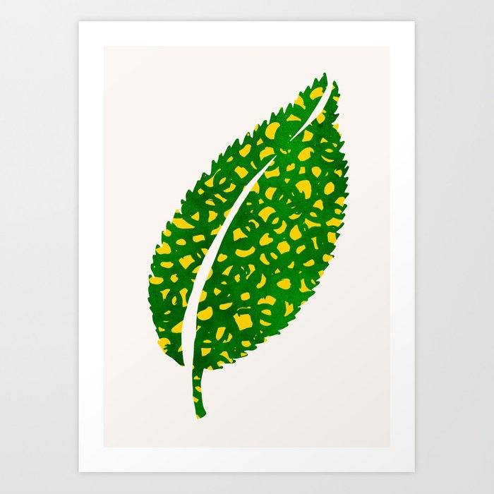 Get Wild - Colorful Leaf Illustration Art Print