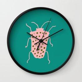 arthropod teal Wall Clock