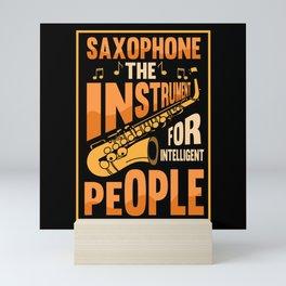 Saxophone Jazz Music Brass Musical Mini Art Print