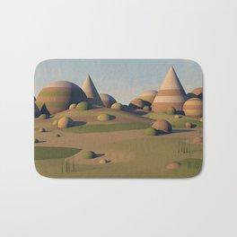 Geometric Landscape Bath Mat