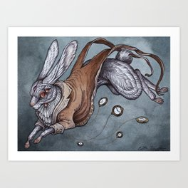 The White Rabbit Art Print