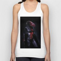 scary Tank Tops featuring scary by Artharik