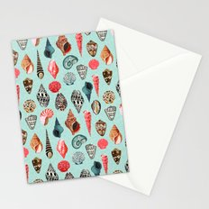 Seashells ocean nautical beach seaside children kids baby home dec shell illustration Andrea Lauren Stationery Cards