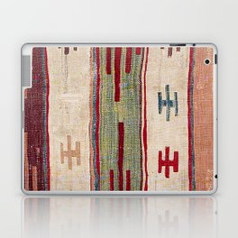 Arcade Star Kilim // 17th Century Colorful Muted Lime Green Southwest Cowboy Ornate Accent Pattern Laptop & iPad Skin