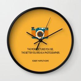 Better Photographer Wall Clock