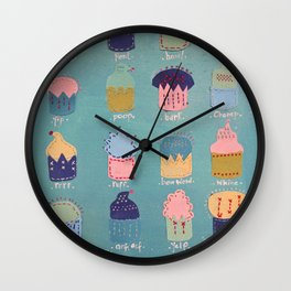 Pupcakes Wall Clock