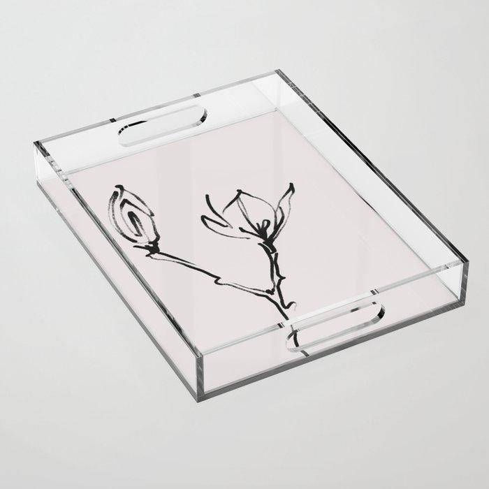 MAGNOLIAS Acrylic Tray