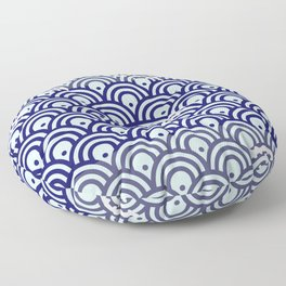 Catch the Seigaiha (Wave) 1 Floor Pillow