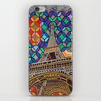 eiffel tower iPhone & iPod Skins featuring Eiffel Tower by Art By Carob
