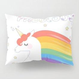 Fabulous Sparkling Rainbow Unicorn Pillow Sham