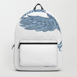 Crow Flying Mandala Backpack