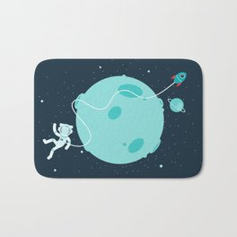 Around the moon Bath Mat