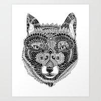 FOX-HEAD Art Print